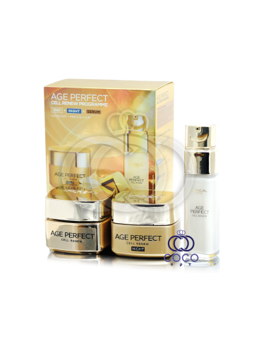 Набор кремов L'oreal Age Perfect Cell Renew 3в1 фото