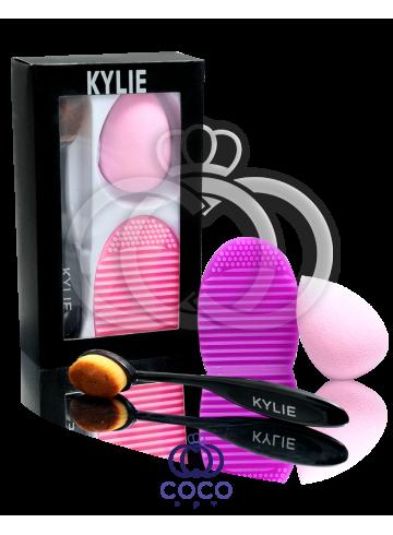 Набор Kylie кисточка и спонжи для макияжа фото