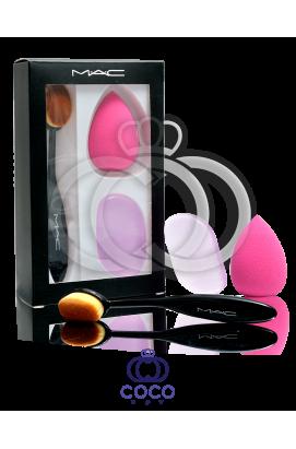 Набор Mac кисточка и спонжи для макияжа