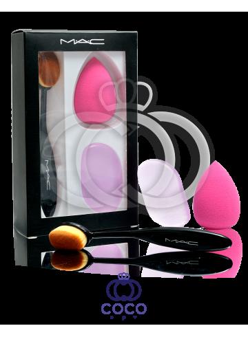 Набор Mac кисточка и спонжи для макияжа фото