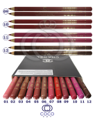 Карандаши для губ Chanel 12шт фото