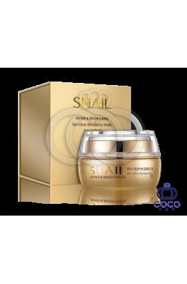 Крем для лица Bioaqua Snail Repair & Brightening с муцином улитки