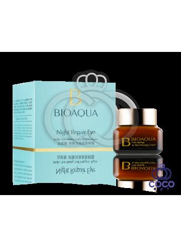 Крем для кожи вокруг глаз Bioaqua Night Repair Eye  с маслом каритэ фото