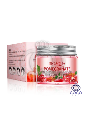 Маска гелевая ночная Bioaqua Pomegranate Fresh Moisturizing Mineral Sleep Mask с гранатом и минералами