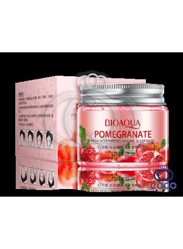 Маска гелевая ночная Bioaqua Pomegranate Fresh Moisturizing Mineral Sleep Mask с гранатом и минералами фото