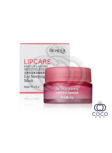 Маска для губ ночная Bioaqua Lip Sleeping Mask с экстрактом клубники фото