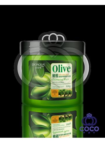 Маска для волос Bioaqua Olive Hair Mask с оливковым маслом фото