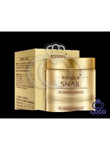 Крем для лица Images Snail Essence Moisturizing Cream с муцином улитки и гиалуроновой кислотой фото