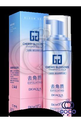Пенка-эксфолиант Bioaqua Cherry Blossoms Chamfer Bubble с экстрактом сакуры