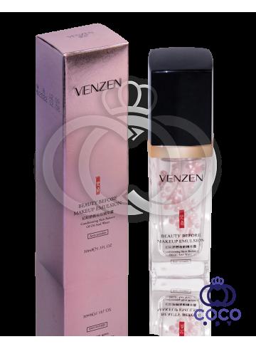 База-эмульсия под макияж Venzen Beauty Before MakeUp Emulsion с жемчужной пудрой  фото