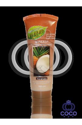 Скраб для лица Wokali Smoothing+Moisturizing Coconut с экстрактом кокоса