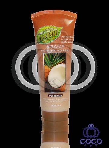 Скраб для лица Wokali Smoothing+Moisturizing Coconut с экстрактом кокоса фото