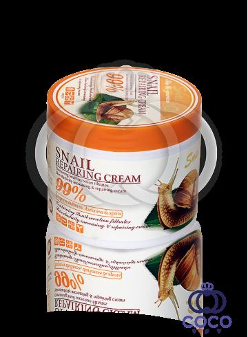 Крем для лица Wokali Snail Repairing Cream 99% с муцином улитки 115 g фото