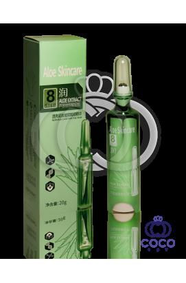 Гель-ролик для глаз с гиалуроновой кислотой и экстрактом алоэ Aloe Skincare Hyaluronic & Aloe Extract Eye Cream Step 8