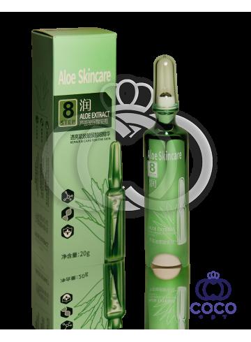 Гель-ролик для глаз с гиалуроновой кислотой и экстрактом алоэ Aloe Skincare Hyaluronic & Aloe Extract Eye Cream Step 8 фото