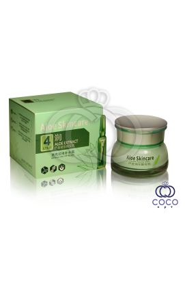 Крем для лица с гиалуроновой кислотой и алоэ Aloe Skincare Hyauluronic Extract Cream Step 4