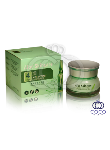 Крем для лица с гиалуроновой кислотой и алоэ Aloe Skincare Hyauluronic Extract Cream Step 4 фото