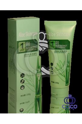 Пенка для умывания с гиалуроновой кислотой и алоэ Aloe Skincare Step 1