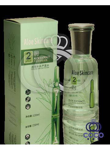 Тонер с гиалуроновой кислотой и экстрактом алоэ Aloe Skincare Hyaluronic Acid & Aloe Extract Toner Step 2 фото