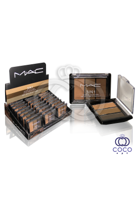 Тени для бровей Mac 3 in 1 Natural Solid Three Color