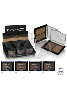 Тени для бровей Mac 2 in 1 Natural Solid Three Color