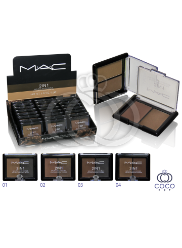 Тени для бровей Mac 2 in 1 Natural Solid Three Color фото