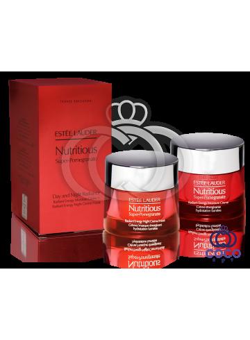 Набор  для восстановления кожи с комплексом антиоксидантов Estee Lauder Nutritious Super- Pomegranate Day and Night Radiance ( качество оригинала) фото