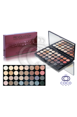 Палетка теней Flawless 2 Makeup Revolution Bordo