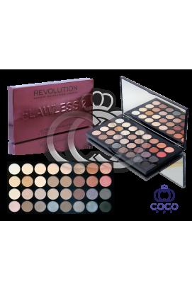 Палетка теней Flawless 2 Makeup Revolution Bordo