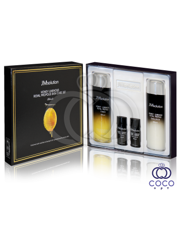 Набор для ухода за кожей JMsolution Honey Luminous Royal Propolis Skin Care Set с прополисом и маточным молочком фото