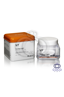 Тонизирующий крем для лица с витаминным комплексом Dr.Jart+ V7™ Toning Light квадратная банка (качество оригинала)