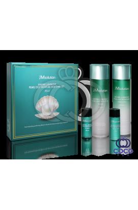 Набор для глубокого увлажнения кожи с экстрактом жемчуга JMsolution Marine Luminous Pearl Deep Moisture Skin Care Set ( качество оригинала) примятая упаковка