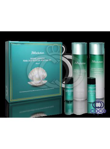 Набор для глубокого увлажнения кожи с экстрактом жемчуга JMsolution Marine Luminous Pearl Deep Moisture Skin Care Set ( качество оригинала) примятая упаковка фото