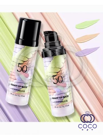 Основа под макияж Make Up Base 3 Spiral SPF 50 трёхцветная фото