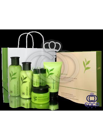 Подарочный набор для ухода за кожей Innisfree Green Tea Balancing Special Skin Care Set ( качество оригинала) подмятая упаковка фото