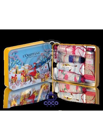 Подарочный набор кремов для рук L`Occitane (голубой) фото