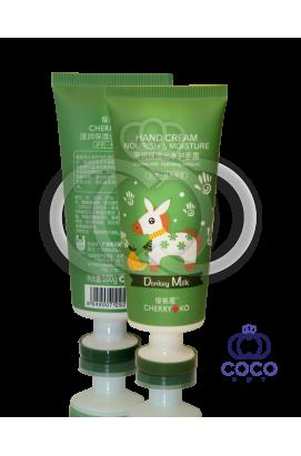 Питательный и увлажняющий крем для рук Cherry Ko Donkey Milk Green