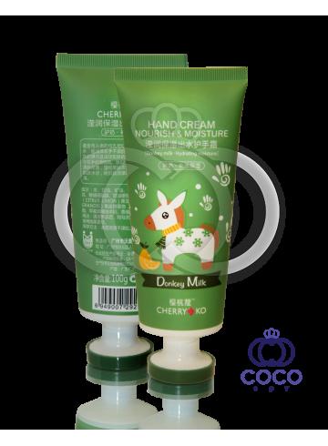 Питательный и увлажняющий крем для рук Cherry Ko Donkey Milk Green фото