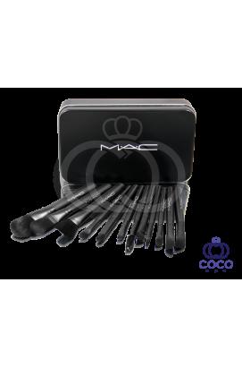Профессиональный набор кистей для макияжа в жестком футляре Mac 12 шт.