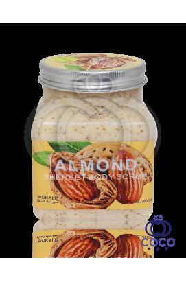 Скраб для тела Wokali Almond Sherbet Body Scrub с экстрактом миндаля