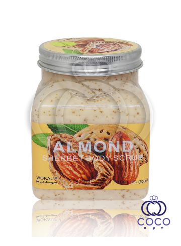 Скраб для тела Wokali Almond Sherbet Body Scrub с экстрактом миндаля фото