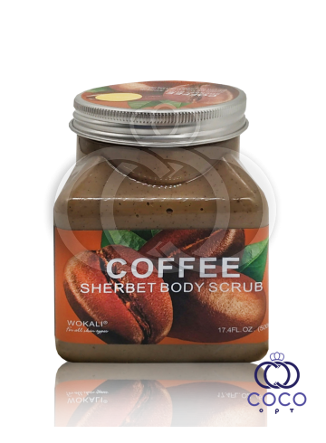Скраб для тела Wokali Coffe Sherbet Body Scrub с экстрактом кофе фото