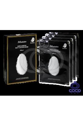 Тканевая маска JMsolution Water Luminous Silky Cocoon Mask с протеинами шёлка и экстрактом тутового шелкопряда поштучно