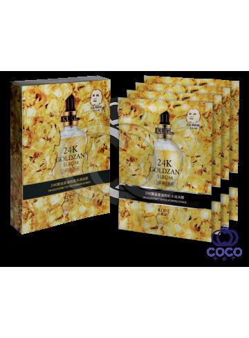 Тканевая маска 24 K Goldzan Serum с коллоидным золотом поштучно фото
