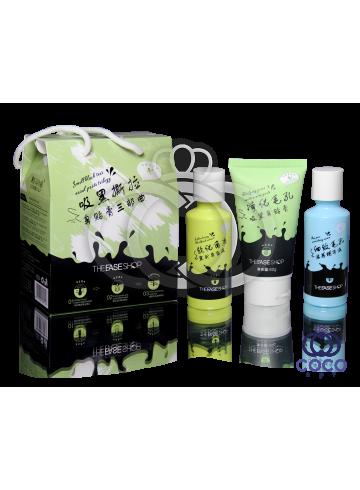Набор для глубокой чистки пор носа c древесным углём Smell Black Tear Nasal Paste Trilogy трёхступенчатый ПРИМЯТАЯ КОРОБКА фото
