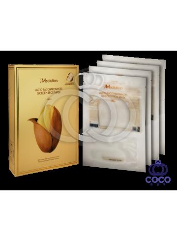 Тканевая маска JMsolution Lacto Saccharomyces Golden Rice Mask с лактобактериями поштучно фото