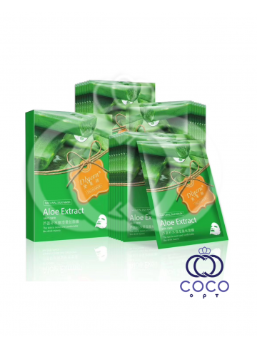 Тканевая маска Aloe Exstract Skin Care с алоэ и водорослями поштучно фото