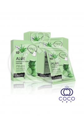 Тканевая маска Aloe 92% с экстрактом алоэ и огурца (10 штук)