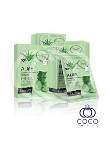 Тканевая маска Aloe 92% с экстрактом алоэ и огурца (10 штук) фото