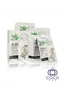 Тканевая маска Aloe 92% с экстрактом алоэ и белым жемчугом (10 штук)